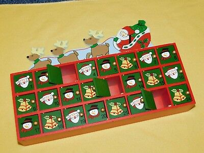 Wooden Advent Calendar - 24 Doors To Put Sweets Or Small Gifts In Christmas