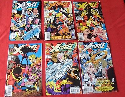 X-Force Lot Of 6 See Photo For  Issues  Marvel  Xfo2  Nice!!!