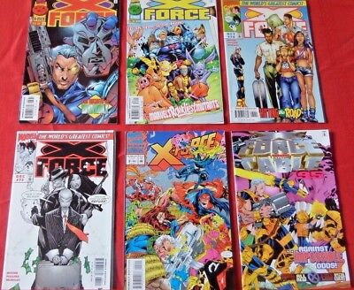 X-Force Lot Of 6 See Photo For  Issues  Marvel  Xfo4  Nice!!!