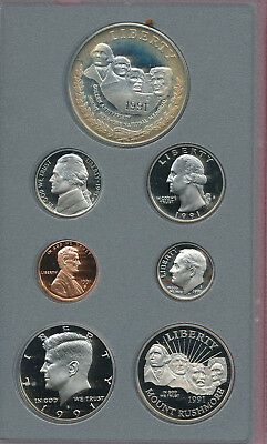 1991 U.s. Mint Prestige Silver Proof Set **seven Coins** Mint-Issued Box & Coa!