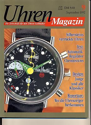 Uhren Magazin September 9/1992