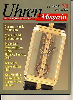 Uhren Magazin Juli/August 7-8/1992