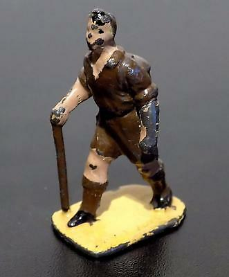 Vintage Dinky Toys Painted Lead Accessory 3c Male Hiker Figure, 40mm, 1939-41