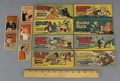 8, 1950s Disney Mickey Mouse Donald Duck Wheaties Cereal Comic Book Premiums