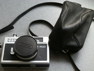 Vintage Ricoh 500G 35mm Rangefinder- Point & Shoot Camera with Case