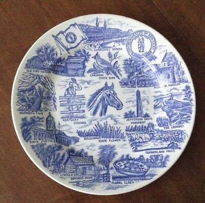 Commonwealth Of Kentucky 10 1/4 Inch  Collector Plate