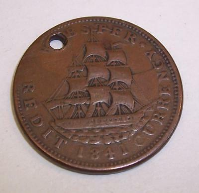 1837/1841 WEBSTER Credit Currency COIN Hard Times USA COIN