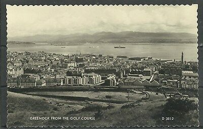 Postcard : Greenock view over Town to River Clyde from Golf Course RP