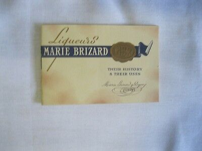 """Vtg 1955  Bicentenary Booklet """"Marie Brizard Liqueurs Their History & Their Uses"""