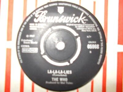 "M-  Uk  Brunswick 45 - The Who - ""la-La-La-Lies"" / ""the Good's Gone"""
