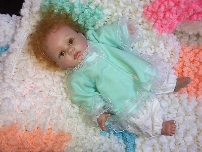 """Darling Berenguer Baby Doll 12"""" Redhead Signed & Painted - Unusual"""