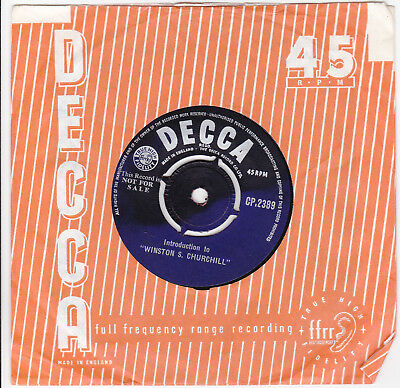 Decca Promo Introduction To Winston S Churchill One Sided Demo