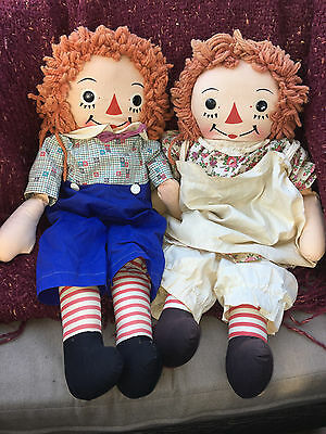 "24"" Georgene Raggedy Ann and Andy Beautiful Dolls Gorgeous Shape"