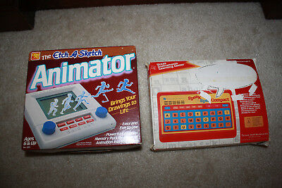 Vintage 80's Etch A Sketch Animator Ohio Art & TI Speak & Spell Compact