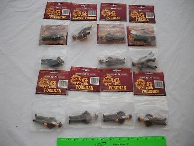 Lot of 11 Bachmann Men Figures People, Foreman Conductor, Big Haulers,G Scale
