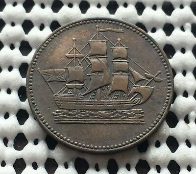 Prince Edward Island Token ❀ 1800's ❀ Canada Ships Colonies & Commerce