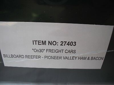 Spectrum 27403 Billboard Reefer Freight Train Car,Pioneer Ham & Bacon,On30 Scale