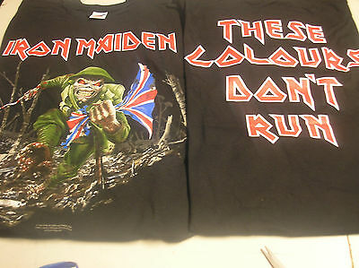 IRON MAIDEN- THESE COLOURS DON'T RUN- Large T-SHIRT c