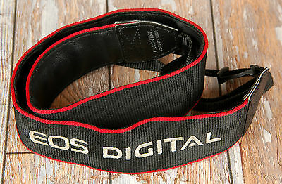 Canon EOS Digital Black Red Wide Camera strap  FREE UK POST