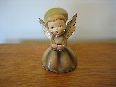 Vintage 1958 Cute Napco Angel in Brown Robe C3258A Figurine