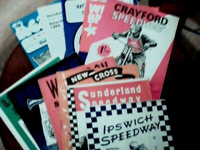 24 Assorted Speedway Programmes  1956-1977 [Various Clubs All Different]