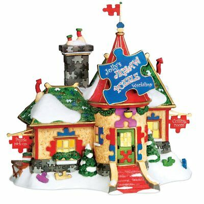 Dept 56 North Pole Jolly's Jigsaw Puzzle Workshop 799916 RETIRED