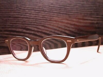 Vintage 1960's Wilkie Brown Browline Frames Glasses Made in USA