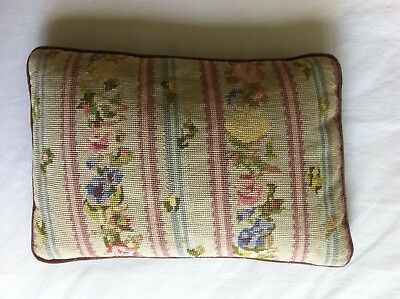 VINTAGE pretty Completed CUSHION COVER Floral French  Boho Tapestry