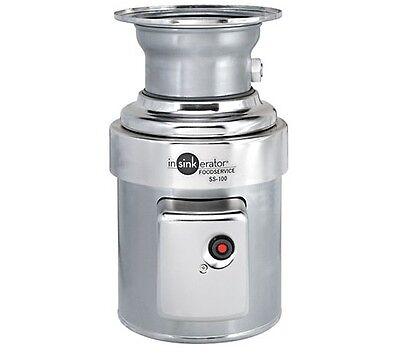 Waste disposer, In-Sink, basic unit only, 1HP, Stainless, INSinkErator SS-100