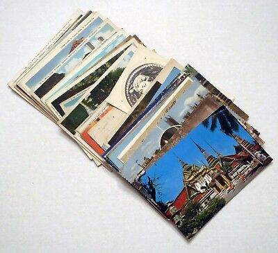 Lot of (50) 1920s-1980s Stamped Posted & Unposted US / Worldwide Postcards