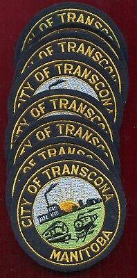 Canada City Of Transcona (Manitoba) Mint Condition Cloth Shoulder Patches Group