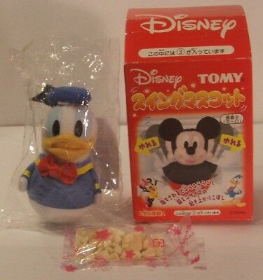 Rare Disney Tomy Tumbling Toy Donald Duck Vintage Swing Mascot New in Box Japan