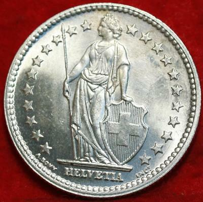 Uncirculated 1944 Switzerland 2 Francs Silver Foreign Coin Free S/H