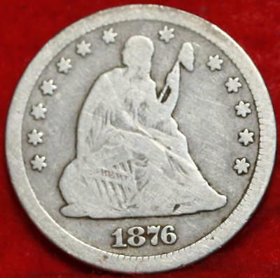 1876-CC Carson City Mint Silver Seated Liberty Quarter Free Shipping