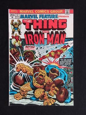 Marvel Feature #12 MARVEL 1973 - HIGHER GRADE - Iron Man, The Thing, Thanos app!