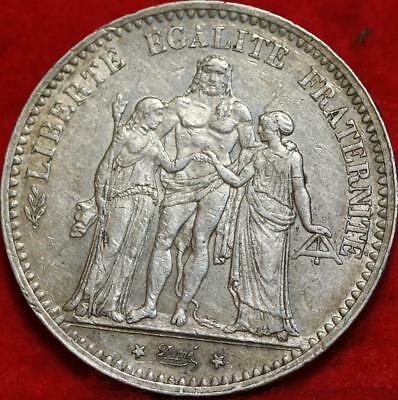 1875 France 5 Francs Silver Foreign Coin Free S/H