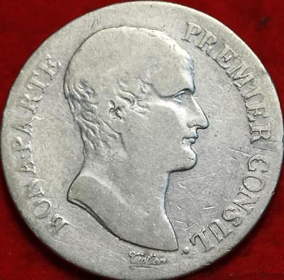 AN12 France 5 Francs Silver Foreign Coin Free S/H