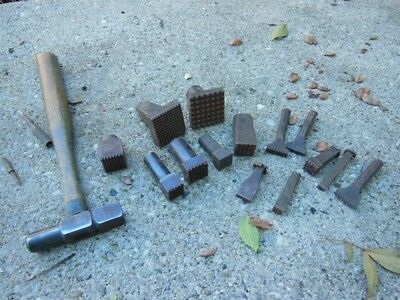 Huge LOT of BERRY Engraving texture stamps? METAL ENGRAVERS TOOLS