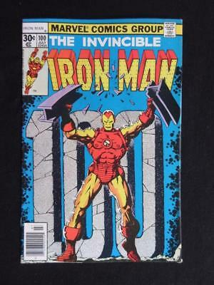 Iron Man #100 MARVEL 1977 - HIGH GRADE - Iron Man v.s The Mandarin - Starlin!!!