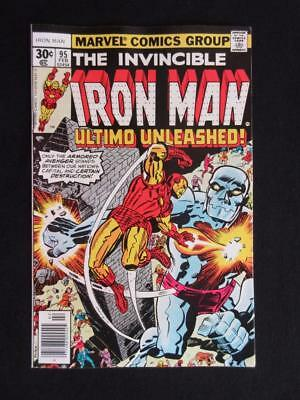 Iron Man #95 MARVEL 1977 - NEAR MINT 9.4 NM - Ultimo app - Tony Stark, Stan Lee!