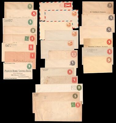 Nice Lot of US Unused Uncanceled Postal Stationery Entire Covers some preprinted