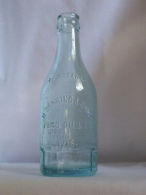 H Nehring & Sons Brewing Co Embossed Registered Glass Beer Bottle Fond Du Lac Wi