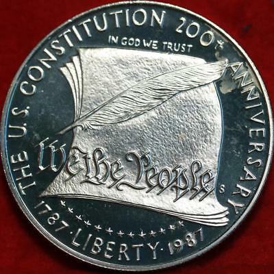 Uncirculated Proof 1987-S San Francisco Mint Silver US Constitution $1 Free Ship