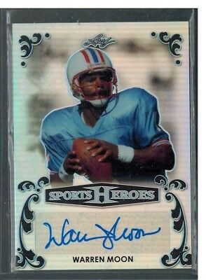 2017 Leaf Metal Heroes Warren Moon Auto 3/3 Black Prismatic Autograph Ebay 1/1