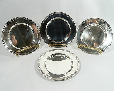 """4 Sterling SILVER 6""""  Side Plates USA Silversmiths G.H. FRENCH  326 Gr."""