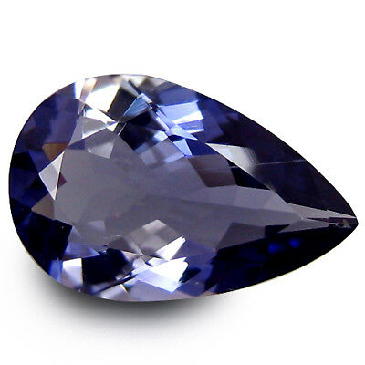 2.15 Ct AAA+ Shimmering Fire 12 x 7 mm Pear UnHeated Bluish Violet Iolite