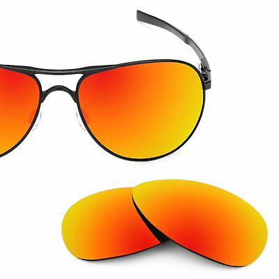 dab2f3a49b Revant Polarized Fire Red Replacement Lenses for Oakley Plaintiff