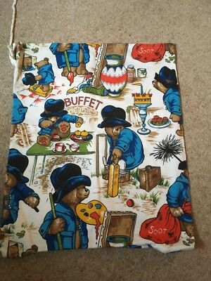 Vintage Paddington bear Sack Fabric