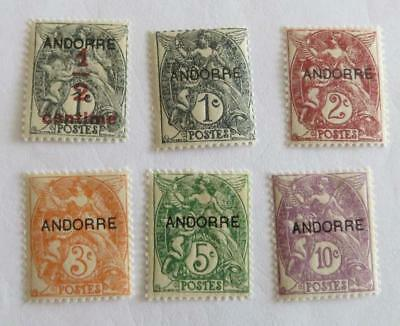 Andorra French 1931 small collection unused