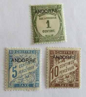 Andorra French 1931 small collection Postage Due unused